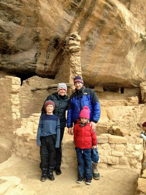 Family at Mesa Verde