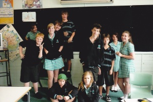 Some of my crazy but lovable year 8s  © Stephanie Glaser
