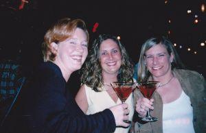 drinking martinis