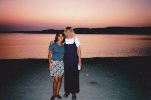 indira and steph in paros