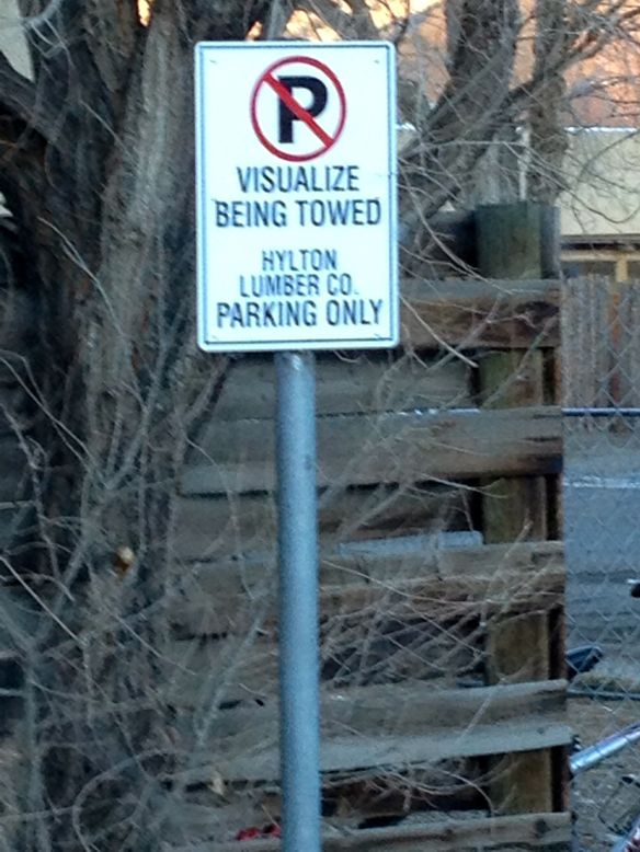 Visualize being towed