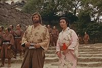 "Screenshot from James Clavell's ""Shogun."" Anjin San and Lady Mariko."