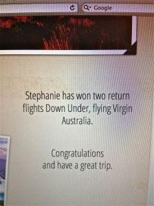 Stephanie has won
