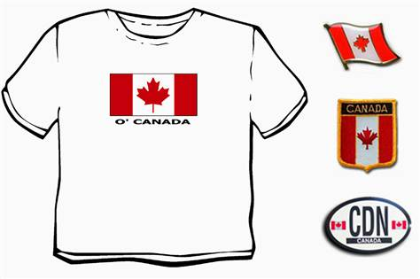 "© T-shirtKing.com via AP This T-shirt, decal, pin and patch are part of a ""Go Canadian"" travel set to convince people you are a Canadian traveler."