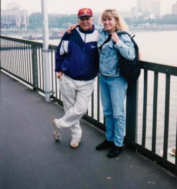 My dad and me in Cologne, Germany.