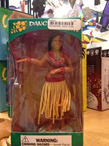 A Hula dancer dashboard figure. I think I expected a Ganesha dashboard ornament to be kitschy like this.