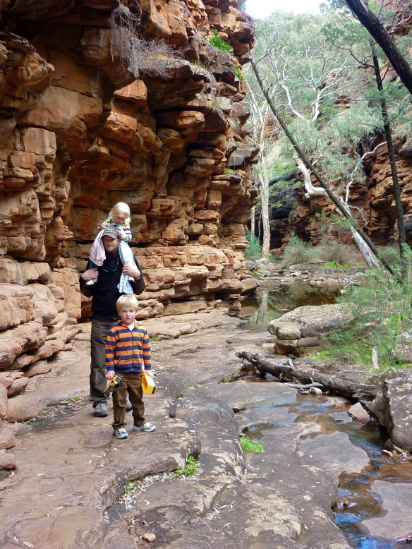 Kurt with Eddie and Kasey in Alligator Gorge, South Australia (2010)