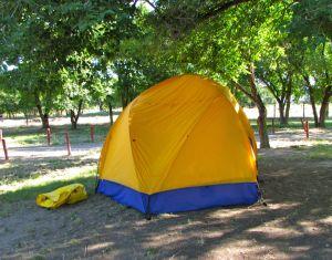 Our faithful tent.