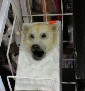 This polar bear tissue keeper, while missing the tissue, has a bit more connection to Canada.