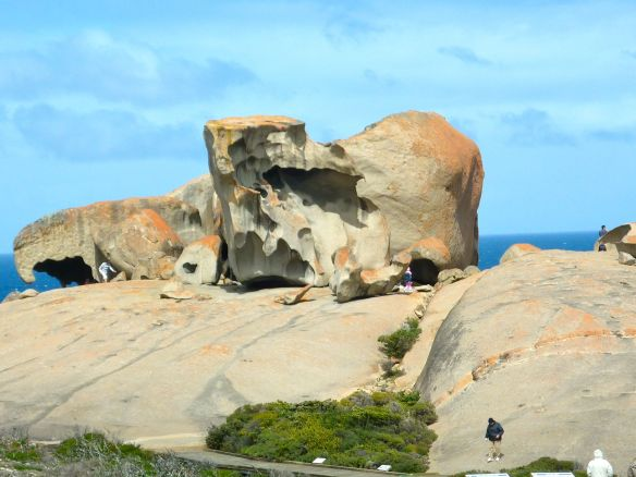 Remarkable Rocks on Kangaroo Island, South Australia as you approach 2010