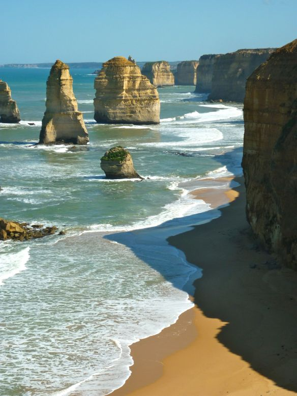 The stunning limestone Twelve Apostles along the Great Ocean Road in Victoria, Australia (2010)
