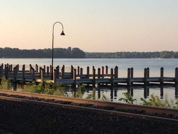 On the other side of the tracks — Lake Minnetonka.