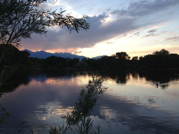 Sand Lake at dusk in Salida, CO