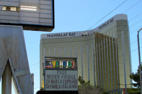 close up of Mandalay Bay