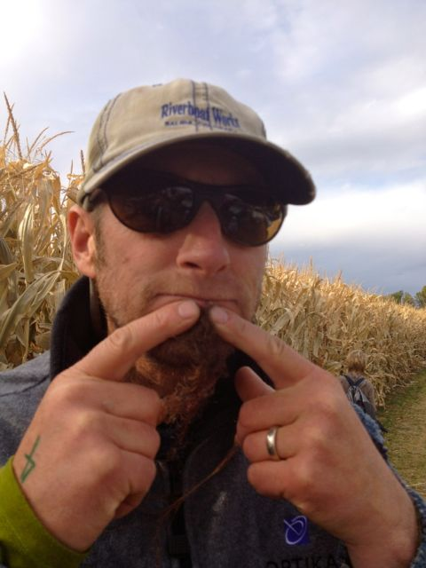My husband, Kurt sports a corn hair goatee.