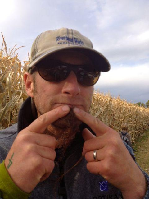 My husband, Kurt sports a corn hair goatee.