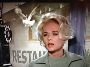 "Tippi Hedren, Alfred Hitchcock's golden girl, and star of the horror/thriller ""The Birds."""