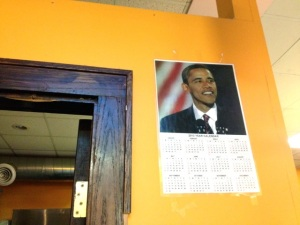 Obama on wall