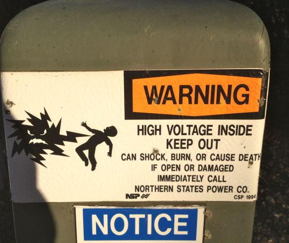 Now here is someone that accurately reflects (I think) being electrocuted.
