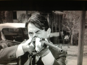 Atticus Finch (Gregory Peck) the best shot in Maycomb County.