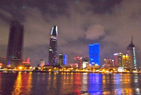 View of Ho Chi Minh City from the banks of the Saigon River in District 2.