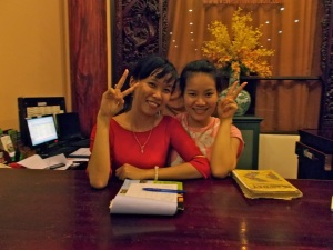 My friends at the Van Loi Hotel in Hoi An