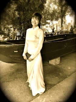 beautiful ao dai woman 1960ish