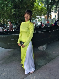 beautiful woman in Ao Dai