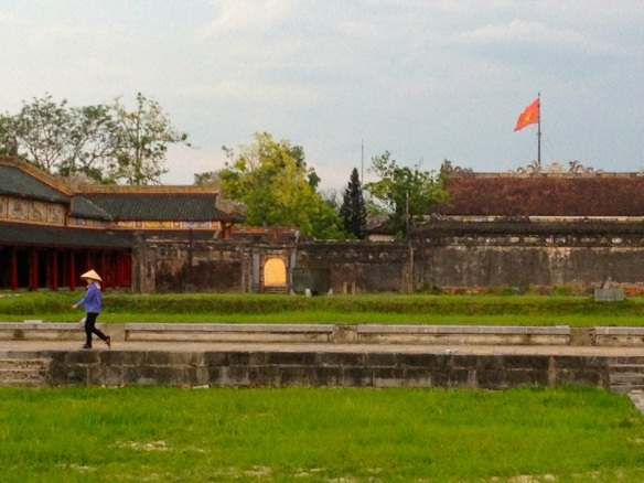 I liked the composition of this shot at the citadel in Hue.