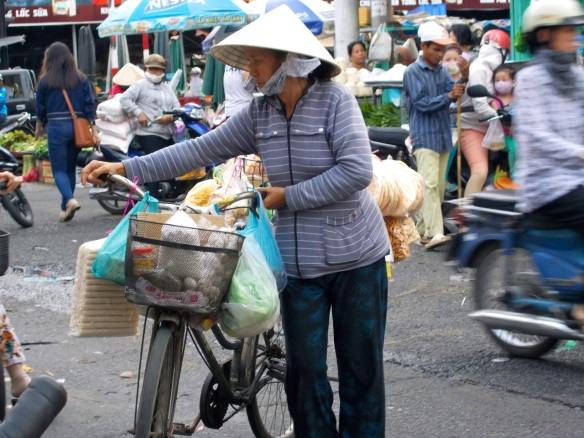 Bicycles are still the way to go in Saigon.