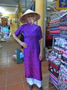 Steph in Ao Dai