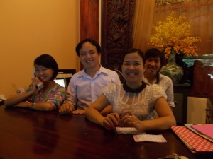 The wonderful staff at the Van Loi Hotel in Hoi An.