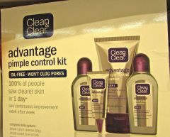 "Clear Advantage in Australia advertises for a ""pimple"" kit."