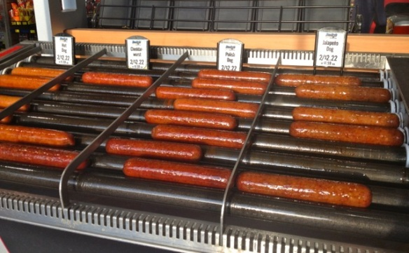 A variety of hot dogs exposed for all.