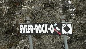 Sheer rock o