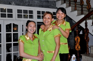 The technicians at the Hoi An Day Spa.