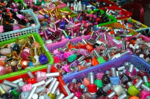 Nail polish at a Vietnamese market.