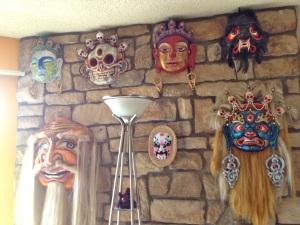 Tsogo gives his Tsam masks a modern edge.