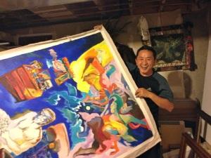 One of Tsogo's many paintings.