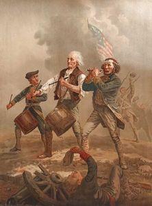 classic Revolutionary painting by Archibald MacNeal Willard