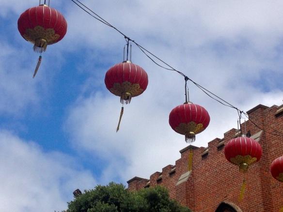 chinatown lanterns single string