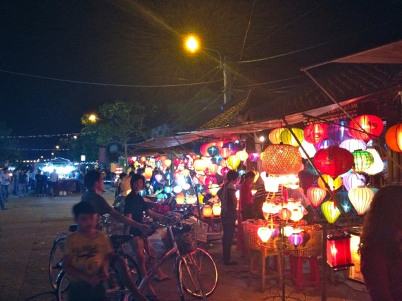A night market in Hoi An, Vietnam.