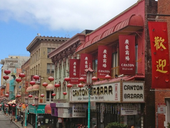 My favorite view of San Francisco's Chinatown: lanterns everywhere!