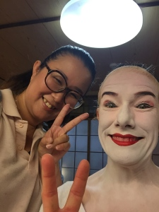 Mariko and I — peace out — Batman!