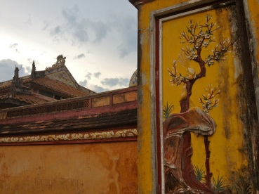 hue yellow temple building