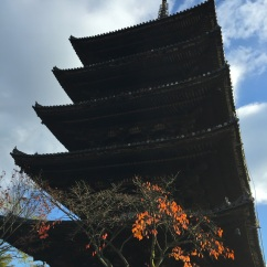 our favorite temple with orange leaves