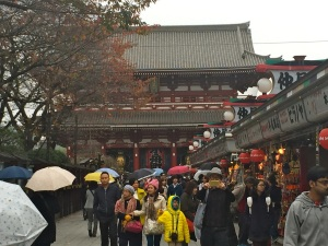 Stores line the walkway leading to Sensō-ji Temple in Asakusa, Tokyo.