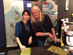 "Our very friendly and accommodating ""fix-it"" saleswoman in Tokyo. She was the queen of wrap, by far."