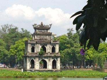 temple at hanoi lake
