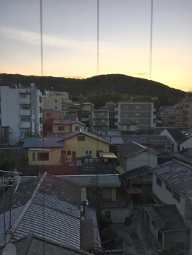 morning out of our window in Kyoto
